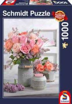Rustic Roses Flowers Jigsaw Puzzle
