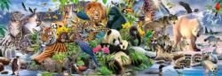 Colorful Animal Kingdom Animals Panoramic Puzzle