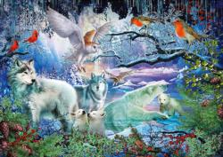 Wolves Lakes / Rivers / Streams Jigsaw Puzzle