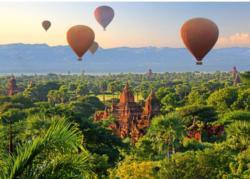 Hot Air Balloons: Mandalay, Myanmar Balloons Jigsaw Puzzle