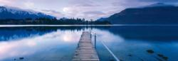 Lake Wakatipu-New Zealand Lakes / Rivers / Streams Panoramic Puzzle