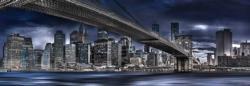 New York, Dark Night New York Panoramic Puzzle