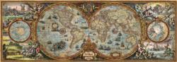 Hemisphere Map Nostalgic / Retro Impossible Puzzle