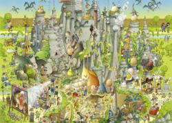 Jurassic Habitat (Funky Zoo) Cartoons Jigsaw Puzzle