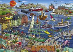 Seaport Seascape / Coastal Living Jigsaw Puzzle