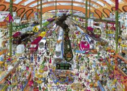 Train Station Cartoons Jigsaw Puzzle
