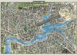City of Pop Maps Jigsaw Puzzle