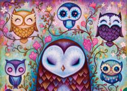 Great Big Owl Contemporary & Modern Art Jigsaw Puzzle