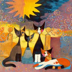 Entrance Cats Jigsaw Puzzle