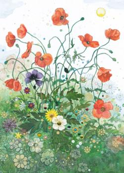 Red Poppies Cartoons Jigsaw Puzzle