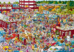 Flea Market Cartoons Jigsaw Puzzle
