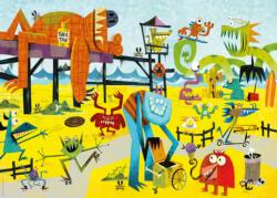 Monster Beach Cartoons Jigsaw Puzzle