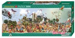 At The Beach Beach Panoramic Puzzle