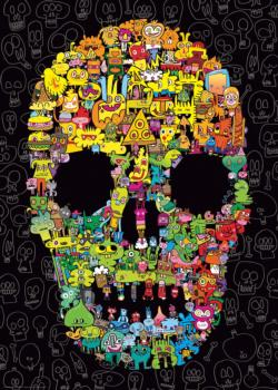 Doodle Skull Cartoons Jigsaw Puzzle
