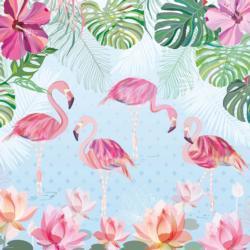 Flamingos & Lilies Birds Jigsaw Puzzle