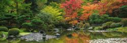 Zen Reflection Garden Panoramic Puzzle