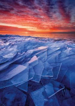 Ice Layers Sunrise / Sunset Jigsaw Puzzle