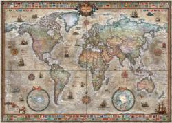 Retro World Maps / Geography Jigsaw Puzzle