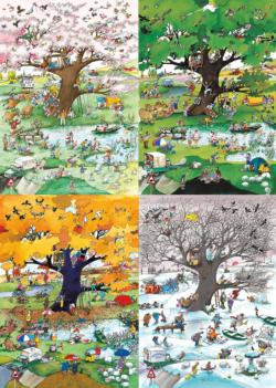 4 Seasons Nature Jigsaw Puzzle