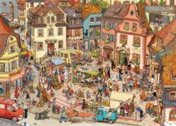 Market Place Cartoons Triangular Puzzle Box