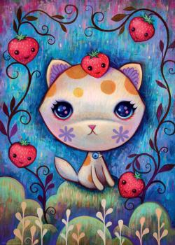 Strawberry Kitty Cats Jigsaw Puzzle