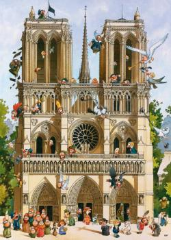 Vive Notre Dame! Churches Jigsaw Puzzle