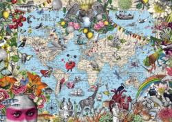 Quirky World Maps / Geography Jigsaw Puzzle