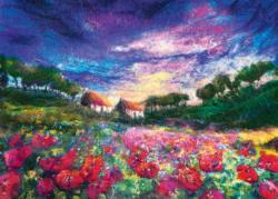 Sundown Poppies Sunrise / Sunset Jigsaw Puzzle
