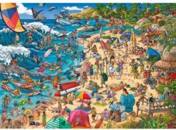 Seashore Graphics / Illustration Triangular Puzzle Box