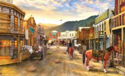 Wild West Town - Scratch and Dent Nostalgic / Retro Jigsaw Puzzle