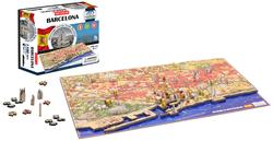 Barcelona, Spain - Scratch and Dent Maps / Geography 4D Puzzle
