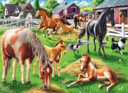 Happy Horses Horses Jigsaw Puzzle