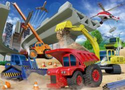 Construction Trucks Vehicles Children's Puzzles