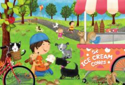 Dogs Love Ice Cream Kittens Children's Puzzles