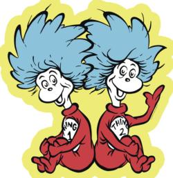 Thing 1 & 2 Cartoons Shaped Puzzle