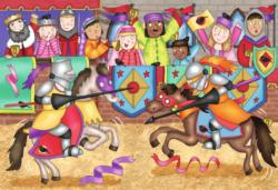 At the Joust Horses Jigsaw Puzzle