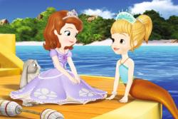 Hugging Arielle Mermaids Children's Puzzles