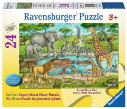 Watering Hole Delight Jungle Animals Children's Puzzles