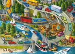 Vacation Hustle Vehicles Children's Puzzles