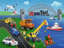 A Day on the Job Vehicles Children's Puzzles