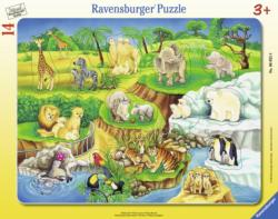 The Zoo Jungle Animals Children's Puzzles
