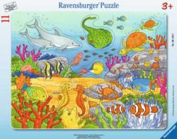 Happy Sea Dwellers Dolphins Frame Puzzle
