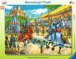 Exciting Jousting Horses Tray Puzzle