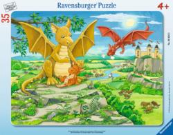The Dragon Family Cartoons Children's Puzzles