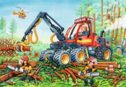 Diggers at Work Construction Children's Puzzles