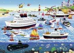 Happy Harbor Seascape / Coastal Living Children's Puzzles
