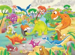 Time Traveling Dinos Dinosaurs Children's Puzzles