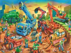 Construction Crew Construction Children's Puzzles