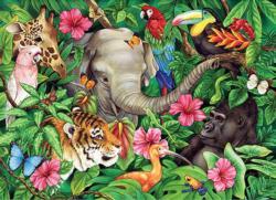 Tropical Friends Elephants Children's Puzzles
