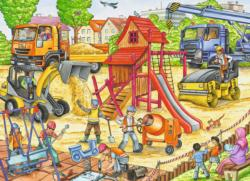 Building a Playground Construction Children's Puzzles